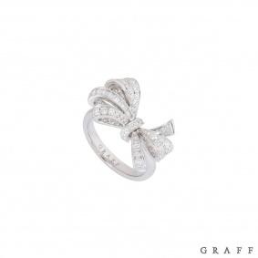 Graff White Gold Diamond Bow Ring